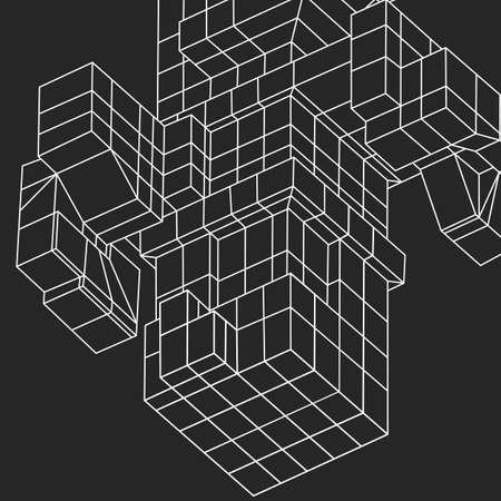 mesh: Wireframe Mesh Cubes element.