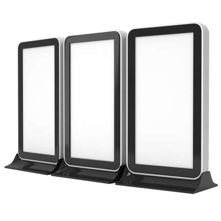 trade show: LCD TV Stand. Blank Trade Show Booth. Stock Photo