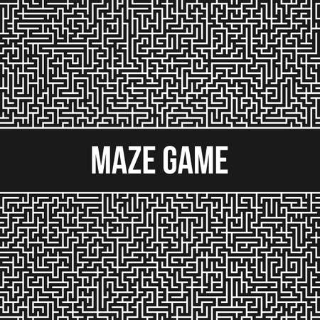 maze game: Labyrinth Background. Maze Game Concept. Transportation Logistics Abstract Background Concept. Business Path Concept. Vector Illustration.