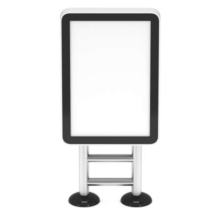 lcd screen: LCD Screen Floor Stand. Blank Trade Show Booth. 3d render of lcd screen isolated on white background. High Resolution Floor Stand. Ad template for your expo design.