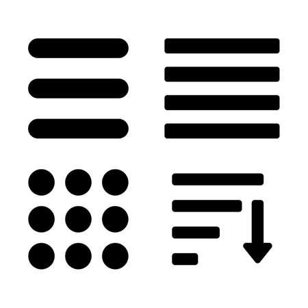 webdesigner: Hamburger Menu Icons Set. Bar Line Hamburger Menu Collection. Vector Illustration of Hamburger Menu Isolated on white background.