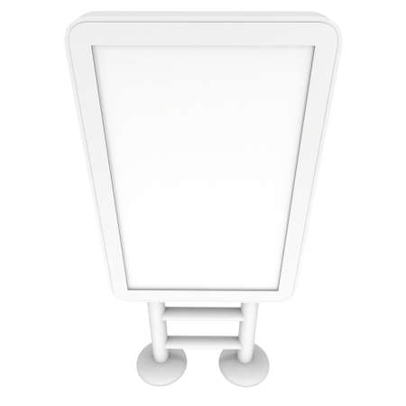 lcd screen: LCD Screen Lightbox Floor Stand. Blank Trade Show Booth. 3d render of lcd screen isolated on white background. High Resolution Light Box. Ad template for your expo design. Stock Photo