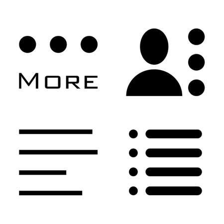 enumerate: Hamburger Menu Icons Set. Bar Line Symbols Collection. Vector Illustration isolated on white background.