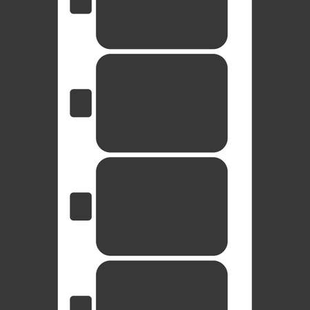 super 8: Vector Super 8 Film Strip Illustration on black background. Abstract Film Strip design template. Film Strip Seamless Pattern.