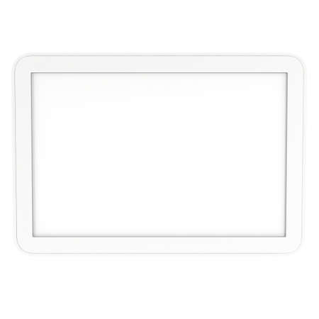 lcd screen: Tablet pc computer with blank screen. 3d render of lcd screen pad isolated on white background. High Resolution ad template for your apps design. Stock Photo