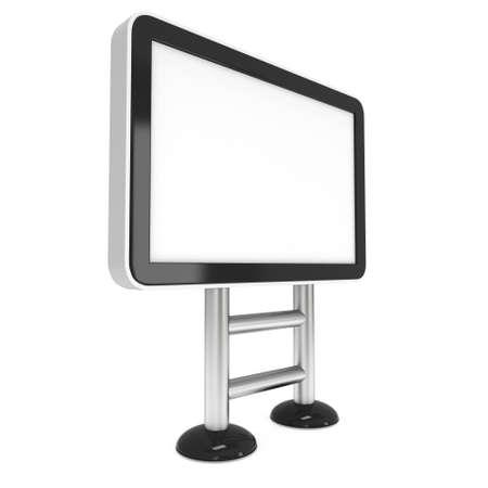 LCD-scherm Lightbox Floor Stand. Blank Trade Show Booth. 3d geef van LCD-scherm op een witte achtergrond. High Resolution Light Box. Ad sjabloon voor uw expo design.
