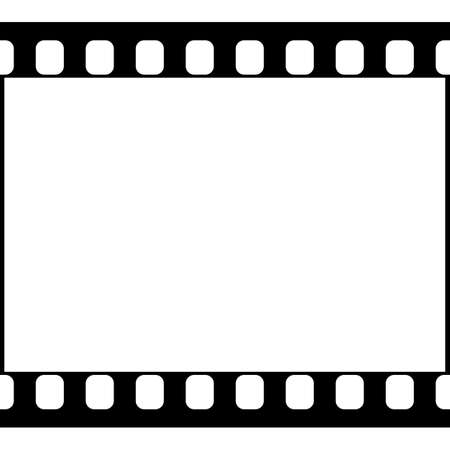 Vector 35 mm Film Strip Illustration on White Background. Abstract Film Strip design template. Film Strip Seamless Pattern. Illustration