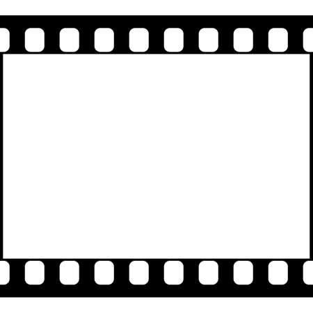 Vector 35 mm-Film-Streifen Illustration auf weißem Hintergrund. Abstrakt-Film-Streifen-Design-Vorlage. Film-Streifen-nahtlose Muster. Vektorgrafik