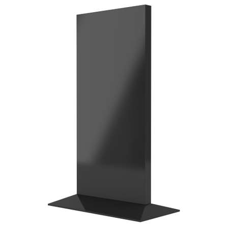 lcd tv: LCD TV Stand. Blank Trade Show Booth. 3d render of lcd tv isolated on white background. High Resolution ad template for your expo design.