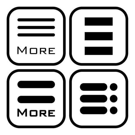 webdesigner: Hamburger menu icons set. Vector symbols collection isolated on white background. Illustration