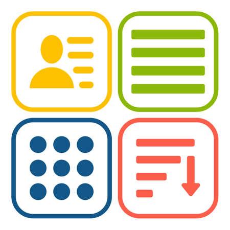 webdesigner: Hamburger menu icons set. Vector white symbols collection isolated on white background.