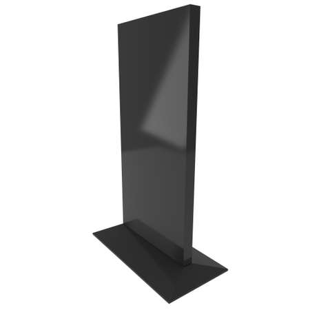 lcd: LCD TV Stand. Blank Trade Show Booth. 3d render of lcd tv isolated on white background. High Resolution ad template for your expo design.