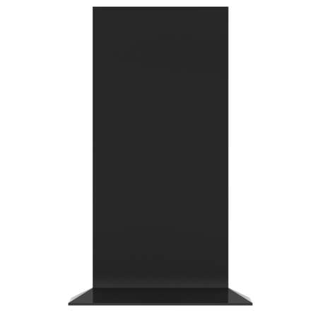 obelisk: LCD TV Stand. Blank Trade Show Booth. 3d render of lcd tv isolated on white background. High Resolution ad template for your expo design.