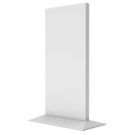 lcd: LCD Screen Stand. Blank Trade Show Booth. 3d render of lcd screen isolated on white background. High Resolution. Ad template for your expo design.