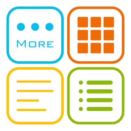 webdesigner: Hamburger menu icons set. Vector color symbols collection isolated on white background. Illustration