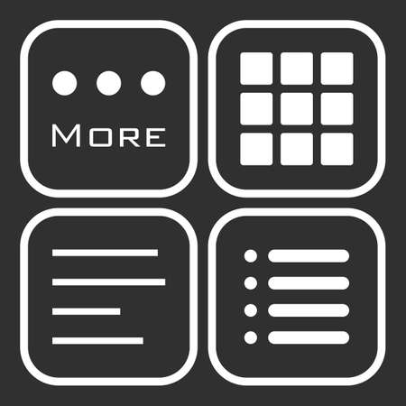 webdesigner: Hamburger menu icons set.
