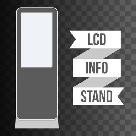 lcd: LCD TV Info Floor Stand. Blank Trade Show Booth