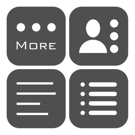 webdesigner: Hamburger menu icons set. Vector gray symbols collection isolated on white background.