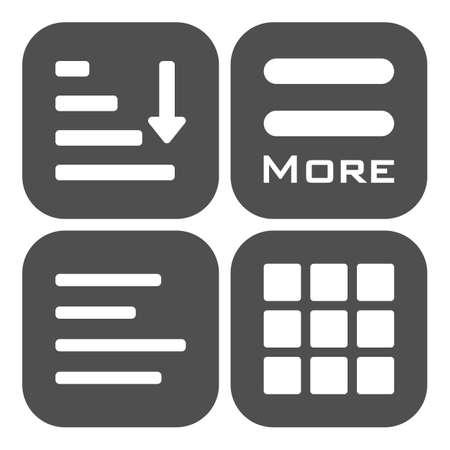 icônes du menu Hamburger définis. symboles gris collection isolé sur fond blanc.