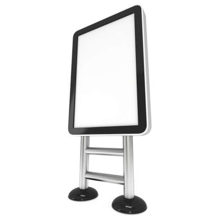 exhibitor: Soporte para TV LCD. 3d aislado en el fondo blanco. Foto de archivo