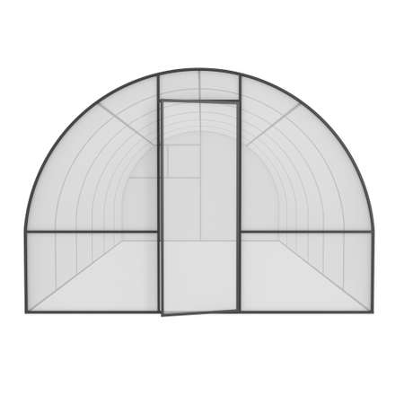 greenhouse: Greenhouse construction frame. Hothouse building object. Warm house 3d render illustration isolated on white. Glasshouse concept image