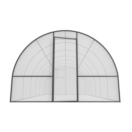 warm house: Greenhouse construction frame. Hothouse building object. Warm house 3d render illustration isolated on white. Glasshouse concept image
