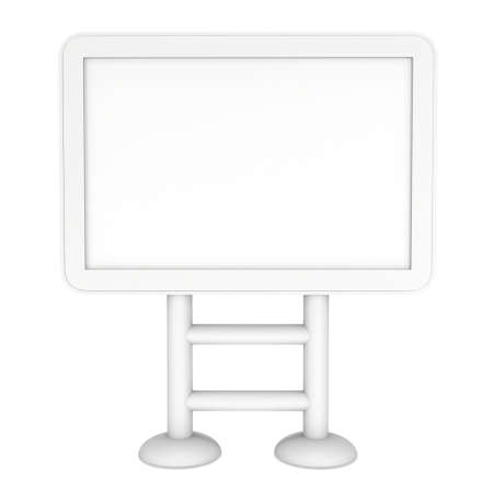 lcd screen: LCD Screen Stand. Blank Trade Show Booth. 3d render of lcd screen isolated on white background. High Resolution. Ad template for your expo design.