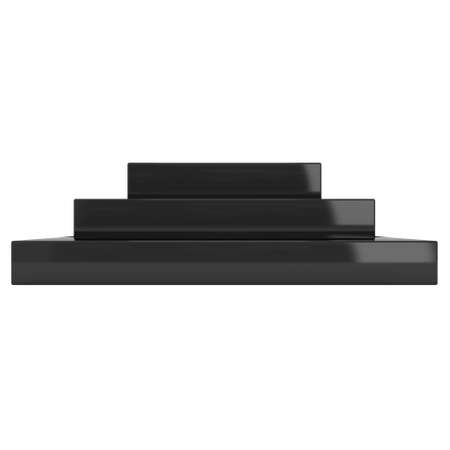 whithe: Square stage black podium for award ceremony. 3D render illustration pedestal isolated on whithe background