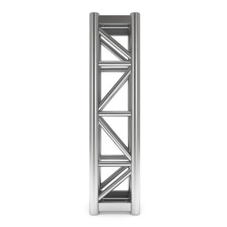 girders: Steel truss girder element. 3d render isolated on white Stock Photo
