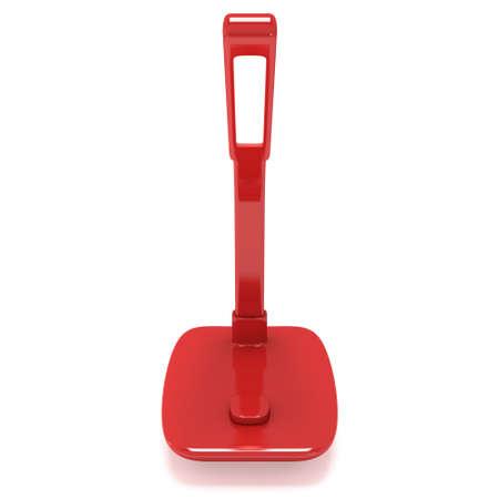 Led Sensor Desk Red Lamp. 3D render isolated on white background.