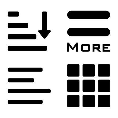 webdesigner: Hamburger menu icons set. Vector color symbols collection on white background.