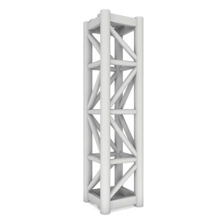 outdoor advertising construction: Steel truss girder element. 3d render isolated on white Stock Photo