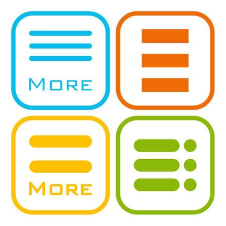 webdesigner: Hamburger menu icons set. Vector colored symbols collection on white background. Illustration