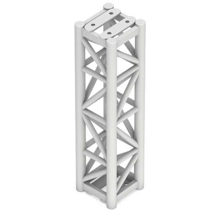 truss: Steel truss girder element. 3d render isolated on white Stock Photo