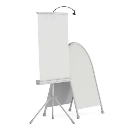 Blank Roll Up Expo Banner Stand Group
