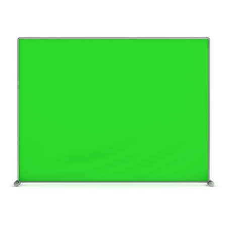 congress: Billet press wall with green screen banner.