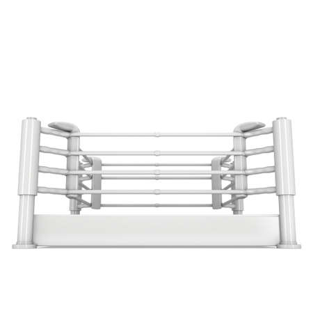 bleachers: Boxing ring. High resolution 3d render.