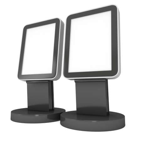 exhibitor: Trade show booth LCD screen stand