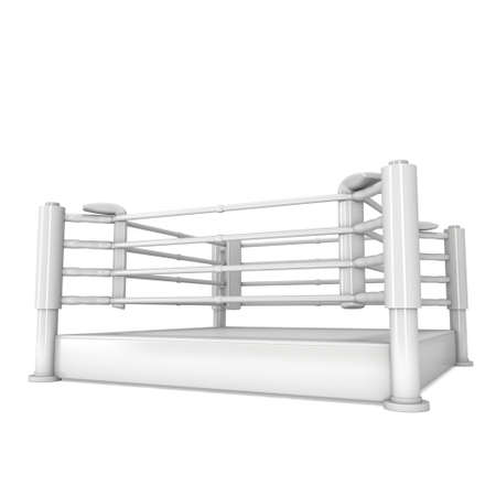 bleachers: Boxing ring. High resolution 3d render of blank arena isolated on white background.