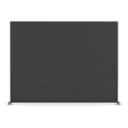 congress: Billet press wall with black screen banner.