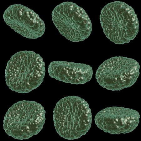 malady: Green illness blood cell Stock Photo