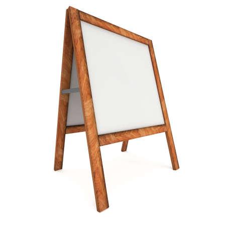 sandwich board: Sandwich board. Blank menu outdoor display Stock Photo