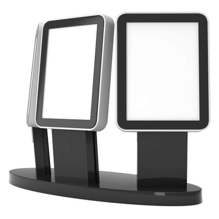 Trade show booth LCD screen stand.