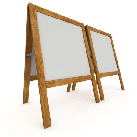 Sandwich board. Blank menu outdoor display Stock Photo