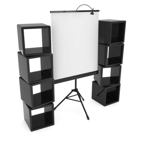 rollup: Blank Roll Up Expo Banner Stand on Tripod