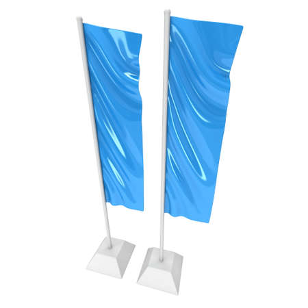 Flag Blue Expo Banner Stand. 3D