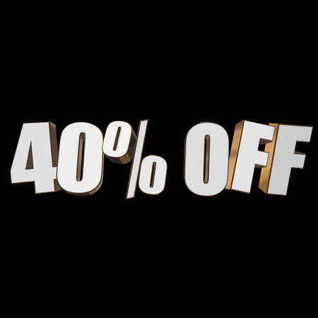 christmas bonus: 40 percent off 3d letters on black background