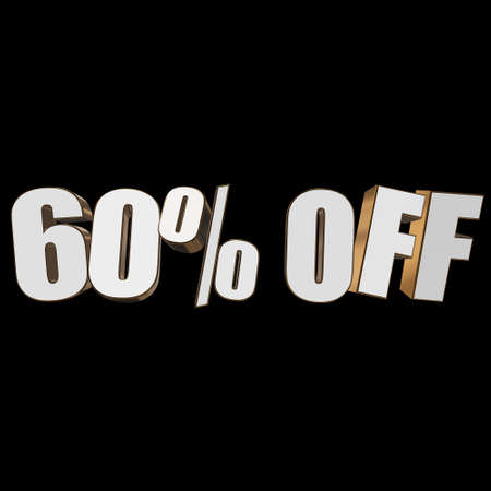 christmas bonus: 60 percent off 3d letters on black background