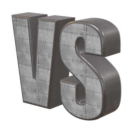 tournament chart: VS Letters 3D Stock Photo