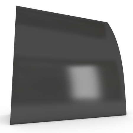 Black paper tent card. 3d render.